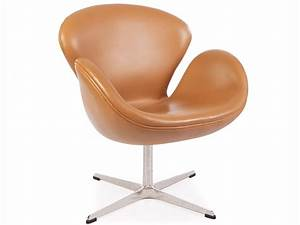 Chaise swan arne jacobsen caramel for Fauteuil jacobsen