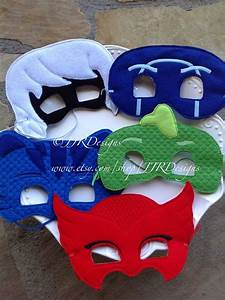 PJ Masks Inspired Mask- Superhero Inspired Masks- PJ Masks ...