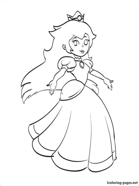 princess peach mario printable coloring page coloring pages