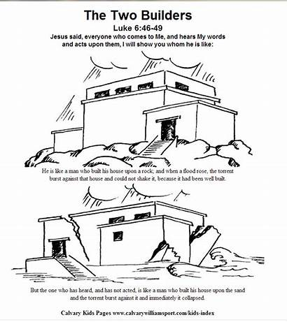 Rock Built Coloring Pages Colouring Foundation Catechesis