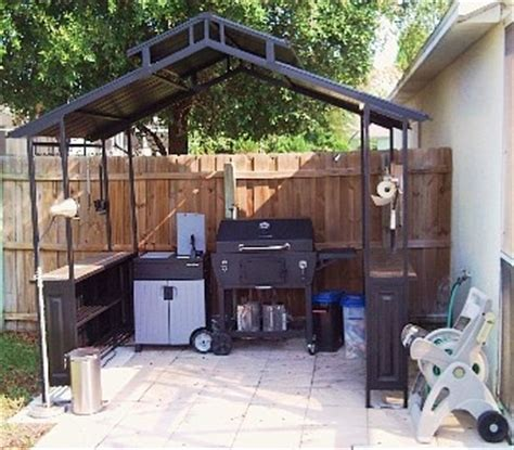 covered outdoor grill area 17 best images about bbq smoker cover ideas on pinterest