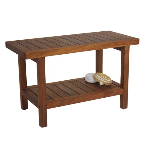 aqua teak spa teak shower bench reviews wayfairca