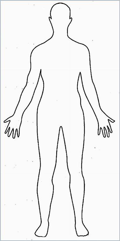 Outline Human Coloring Template Pages Drawing Person