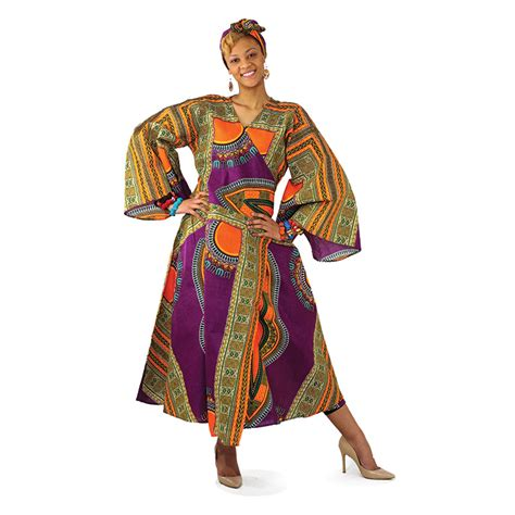 traditional print wrap dress purple