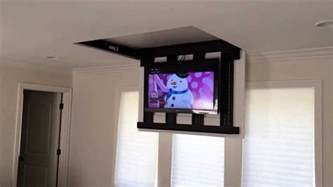 Drop Down Ceiling Projector Mount by Motorized Fully Automated Flip Down Ceiling Tv Lift 46 Quot 60