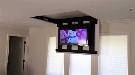 home automation pop up tv lift the vision flip around tv mount motorized by
