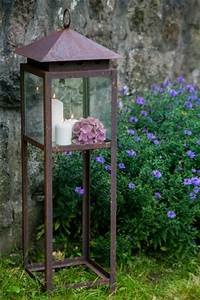 Große Laterne Windlicht : gro e laterne in rost h he 100cm windlicht echtglas metalllaterne ebay ~ Markanthonyermac.com Haus und Dekorationen