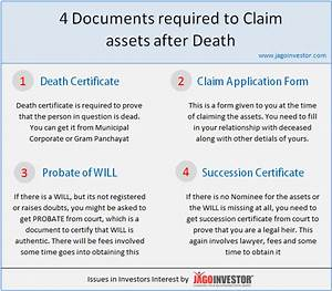 Claiming assets after death here are 4 important for L c documents required