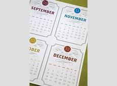 Vintage Label Printable Desk Calendar PDF 2014 and 2015