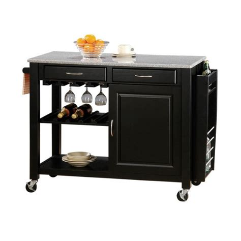 storage for small kitchen coaster kitchen carts with granite top 5870 5870