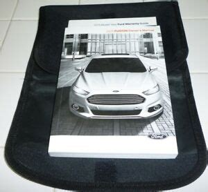 ford fusion owners manual guide set  wcase  se