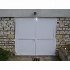 Porte de garage 2 vantaux a la belle fenetre for Porte de garage 2 vantaux