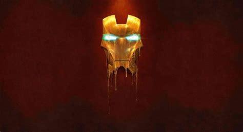melting iron man mask hd wallpapers