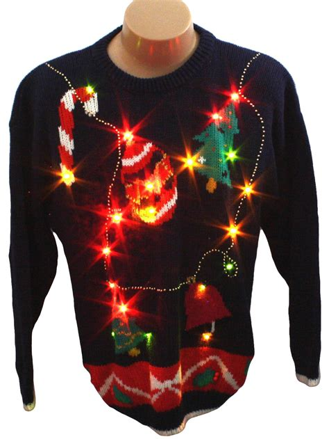 ugly light up christmas sweaters light up ugly christmas sweater retro look spice of life