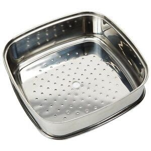 copper chef   square pan extender steaming plate stainless steel cooking ebay