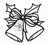 Bells Coloring Jingle Christmas Printable Pages Drawing Bell Drawings Getdrawings sketch template