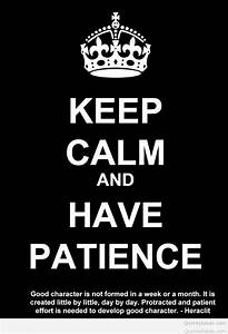 Funny e-card patience quote  Keep