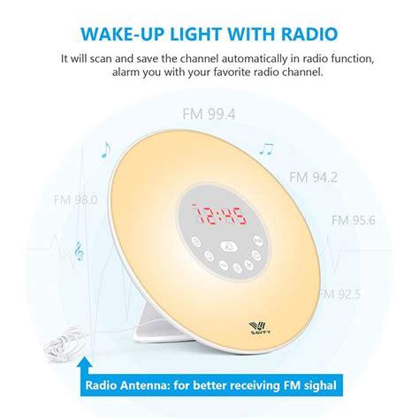 best wake up light led best wake up light sunrise simulation alarm clock fm