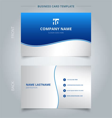 creative business card   card template stripe wave