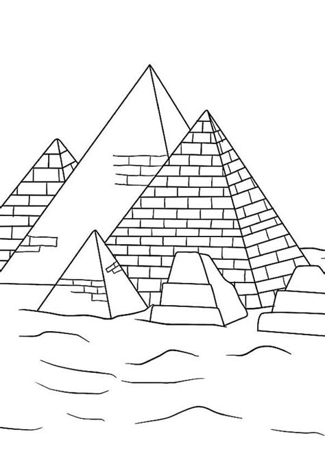 learn  history  pyramid coloring page coloring sky