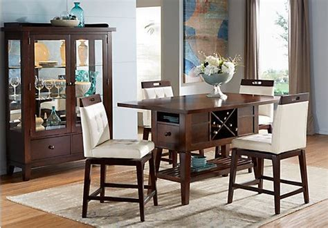 julian place chocolatevanilla  pc counter height dining room dining room sets rooms