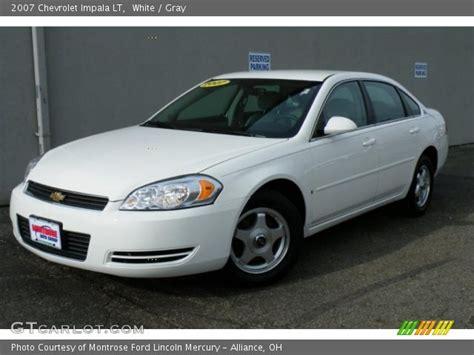 white  chevrolet impala lt gray interior