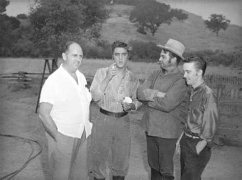 presley smith behind the scenes elvis with actor robert middleton on the movie set of love