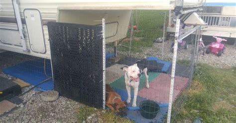 Dog Cage Connected To 5th Wheel Camper …
