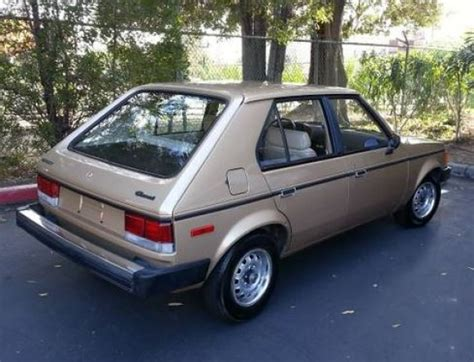 Omni For Sale by Auntie S 48k Mile 1983 Dodge Omni Bring A Trailer