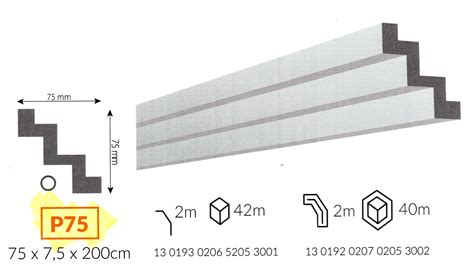 cornici soffitto polistirolo profilo cornice da soffitto p75 in polistirene