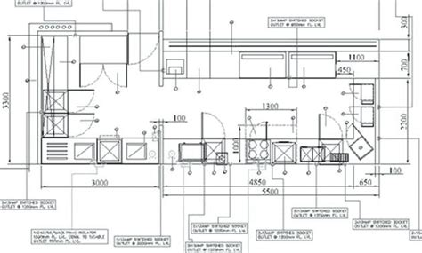 standard kitchen layouts  restaurant kitchen design