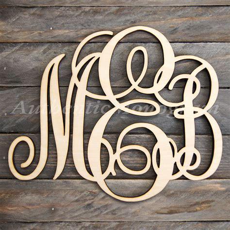 custom wooden monogram door hanger natural letter millen