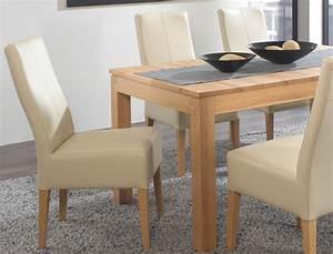 Esstisch Stühle Beige : tischgruppe kernbuche tisch grover xl 130 230 x90 6 st hle tom beige wohnbereiche esszimmer ~ Markanthonyermac.com Haus und Dekorationen
