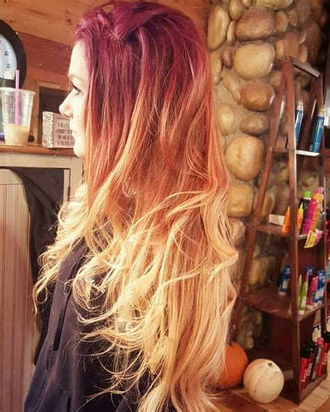 fire ombre hair color hair styles dyed hair