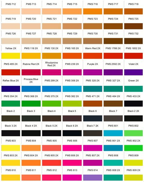 color reference pantone color reference chart seebyseeing pantone color