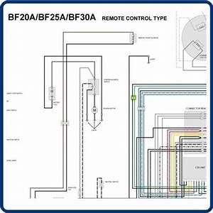 Honda Bf25a 25 Bf30a 30 Marine Outboard Wiring Diagram Poster Tm036 On Popscreen