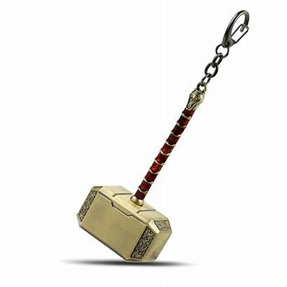 Thor Hammer Mjolnir Keychain Marvel Key Keyring
