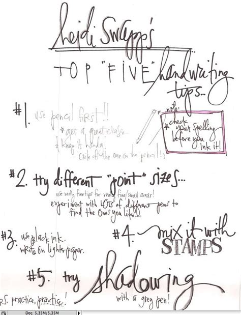 Top 5 Handwriting Tips  Creative  Pinterest  Hand Writing, Stamps And Hands