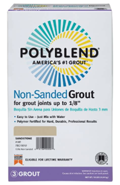Polyblend Non Sanded Non Shrink Grout   Custom Building