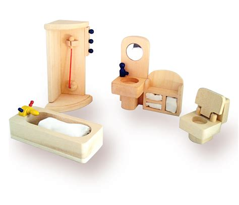 wooden dolls house furniture  room set playlearn