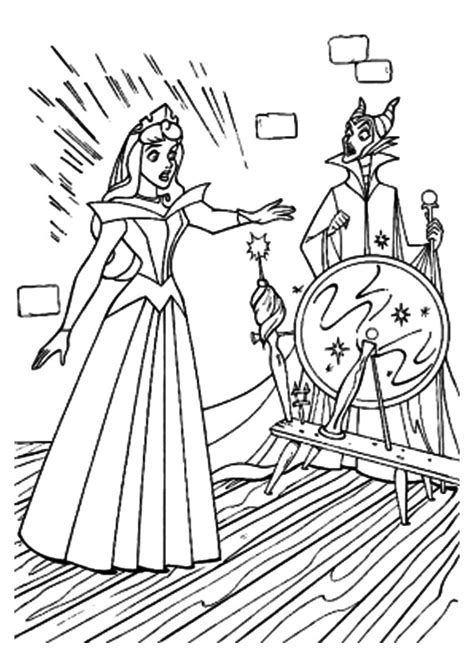 aurora pricks  spindle coloring pages