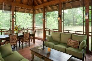 Porch Exposed Beam Home Design Cozy Enclosed Back Porch Ideas