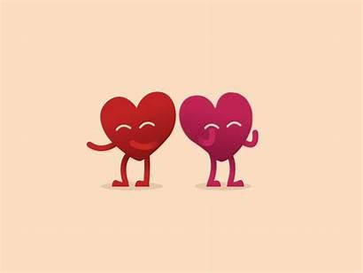 Hearts Heart Walk Happy Valentine Icon Dribbble