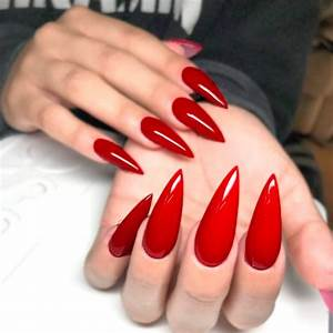 Red Stiletto Nails | www.pixshark.com - Images Galleries ...
