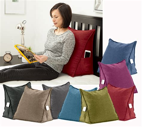 15066 bed pillows for sitting up orthopaedic back support bed wedge pillow bean bag cushion