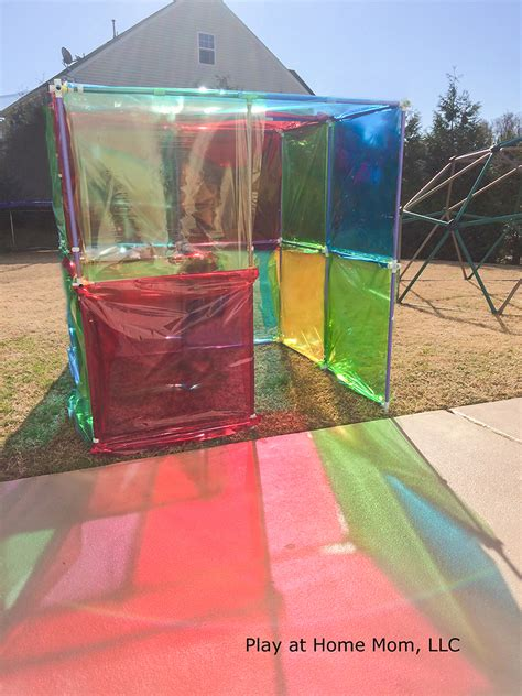 stained glass projects for outdoors stained glass house activities for children imagination outdoor play play at home mom