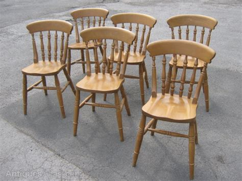 Antiques Atlas  A Set Of 6 Pine Kitchen Chairs