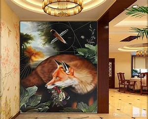 3d, Bedroom, Wallpaper, Sly, Fox, In, The, Forest, Living, Room, Bedroom, Background, Wall, Decoration, Mural
