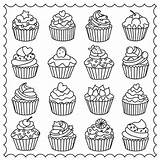 Coloring Pages Easy Cupcake Adults Adult Cupcakes Colouring Printable Cakes Drawing Para Tea Coffee Ice Cake Cup Sheets Cream Dibujos sketch template