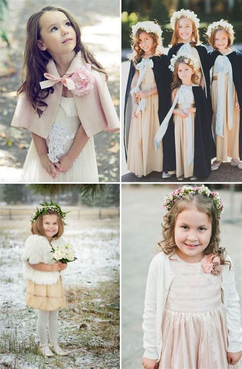 cosy  cute winter flower girl outfits  style